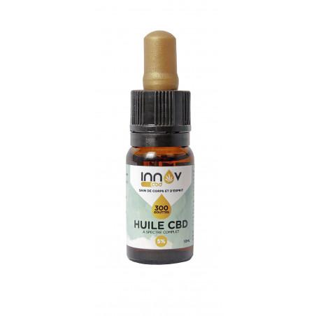 Fiole de 10 ML d'huile de CBD Full spectrum 5% | 500Mg de Cannabidiol CBD INNOV - 2
