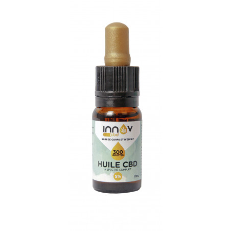 Vial of 10 ML of 5% FULL SPECTRUM CBD oil | 500Mg Cannabidiol CBD INNOV - 2
