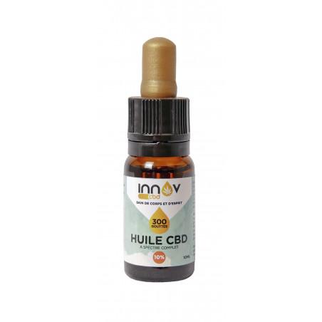 Fiole de 10 ML d'huile de CBD Full spectrum 10%   1000 Mg de Cannabidiol CBD INNOV - 2