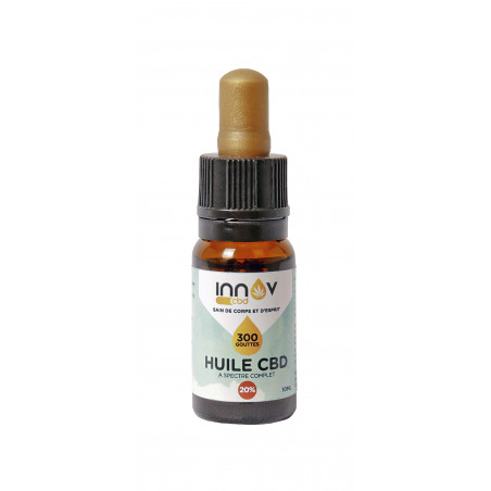 Fiole de 10 ML d'huile de CBD Full spectrum 20% | 2000 Mg de Cannabidiol CBD INNOV - 2