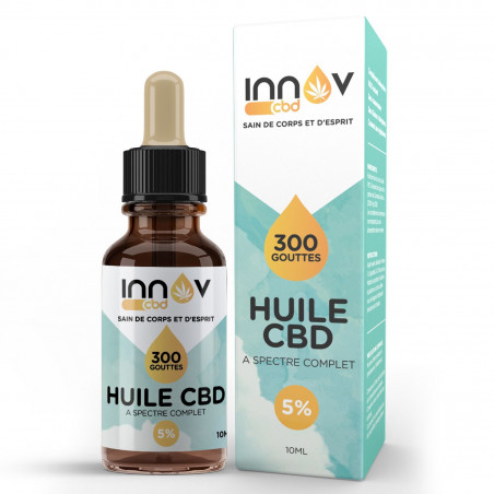 Huile de CBD Full spectrum 5% | CBD INNOV | Cannabidiol France