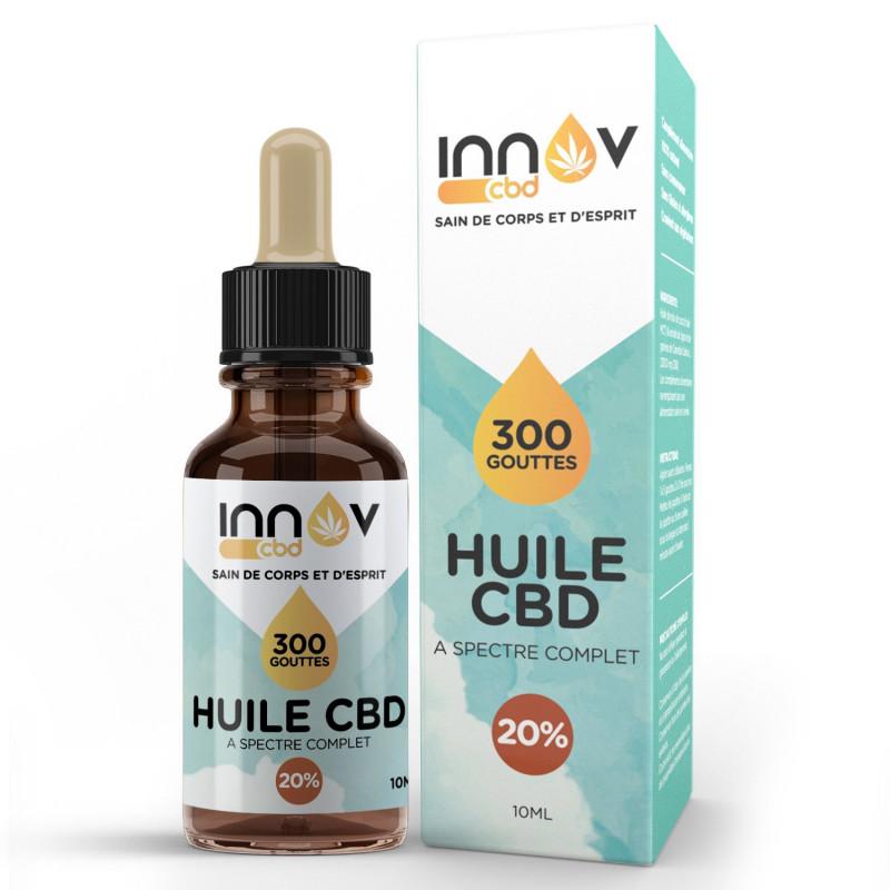Vial of 10 ML of 20% full spectrum CBD oil | 2000 Mg Cannabidiol